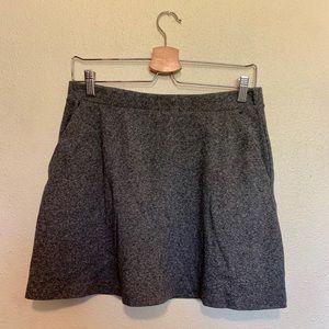 H&M charcoal sweater knit skater mini skirt